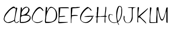 LibbyScript Font UPPERCASE