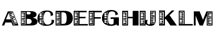 Liberace Font UPPERCASE