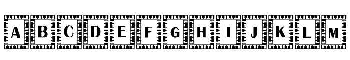 Liberace Font LOWERCASE