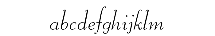 Liberate Normal Font LOWERCASE