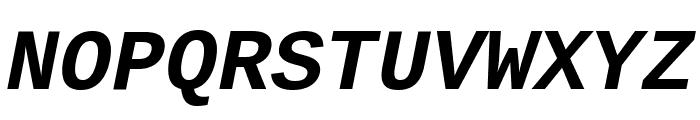 Liberation Mono Bold Italic Font UPPERCASE