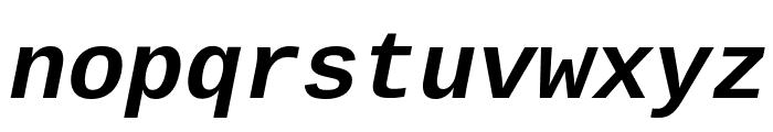 Liberation Mono Bold Italic Font LOWERCASE