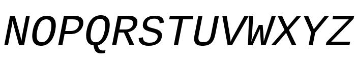 Liberation Mono Italic Font UPPERCASE