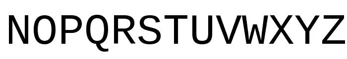 Liberation Mono Regular Font UPPERCASE