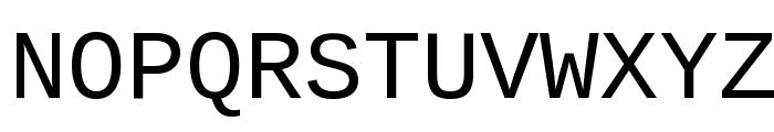 Liberation Mono Font UPPERCASE