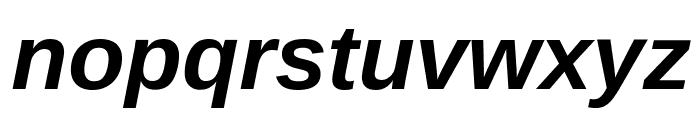 Liberation Sans Bold Italic Font LOWERCASE