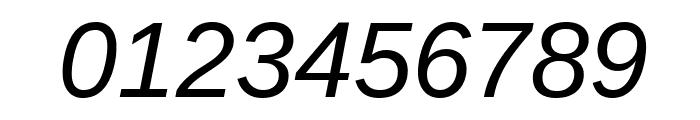 Liberation Sans Italic Font OTHER CHARS