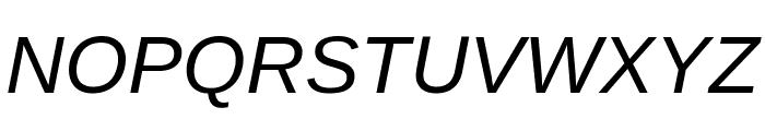 Liberation Sans Italic Font UPPERCASE