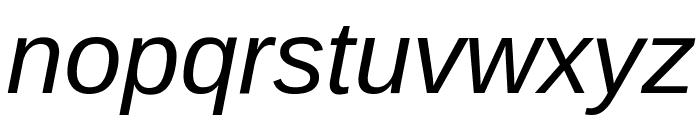 Liberation Sans Italic Font LOWERCASE