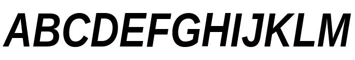 Liberation Sans Narrow Bold Italic Font UPPERCASE