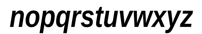 Liberation Sans Narrow Bold Italic Font LOWERCASE