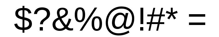 Liberation Sans Regular Font OTHER CHARS