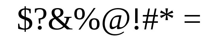 Liberation Serif Font OTHER CHARS