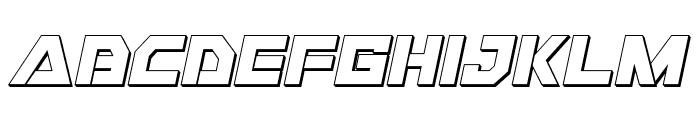 Liberty Island 3D Italic Font LOWERCASE