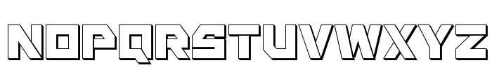 Liberty Island 3D Regular Font LOWERCASE