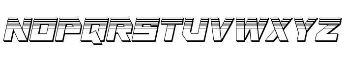 Liberty Island Chrome Italic Font UPPERCASE
