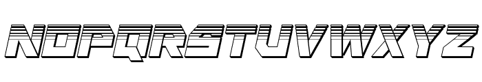 Liberty Island Chrome Italic Font LOWERCASE