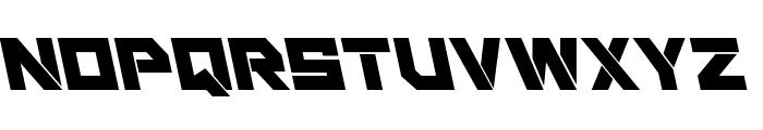 Liberty Island Leftalic Font UPPERCASE