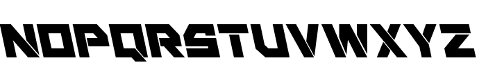 Liberty Island Leftalic Font LOWERCASE