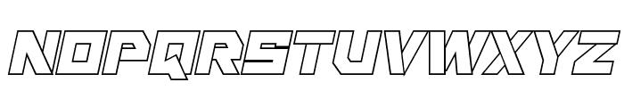 Liberty Island Outline Italic Font UPPERCASE