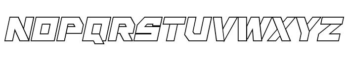 Liberty Island Outline Italic Font LOWERCASE