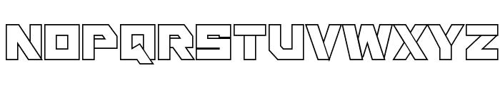 Liberty Island Outline Regular Font UPPERCASE