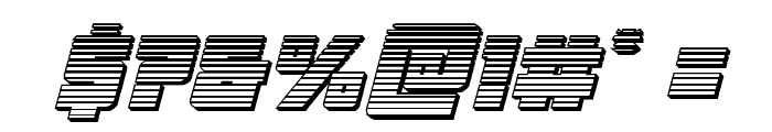 Liberty Legion Chrome Italic Font OTHER CHARS
