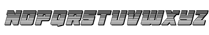 Liberty Legion Chrome Italic Font UPPERCASE