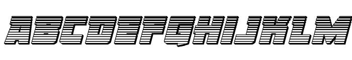 Liberty Legion Chrome Italic Font LOWERCASE
