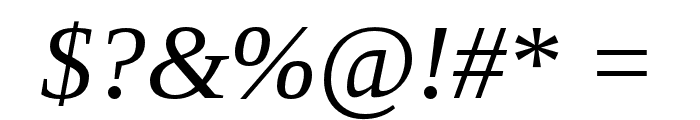 LibraSerifModern-Italic Font OTHER CHARS