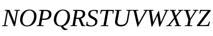 LibraSerifModern-Italic Font UPPERCASE