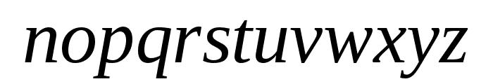 LibraSerifModern-Italic Font LOWERCASE