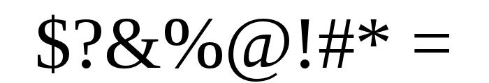 LibraSerifModern-Regular Font OTHER CHARS