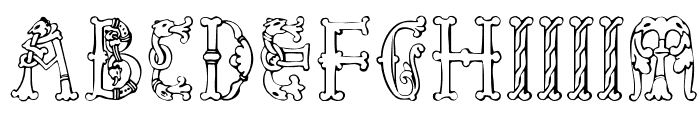 Library-of-Minerva--9th-c- Font UPPERCASE