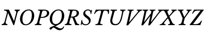 Libre Baskerville Italic Font UPPERCASE