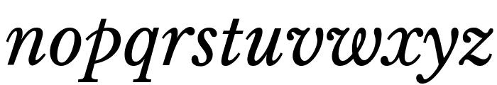 Libre Baskerville Italic Font LOWERCASE