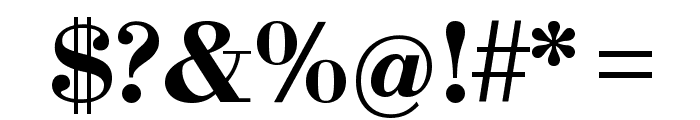 Libre Bodoni Bold Font OTHER CHARS