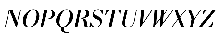 Libre Bodoni Italic Font UPPERCASE