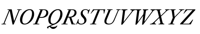 Libre Caslon Text Italic Font UPPERCASE