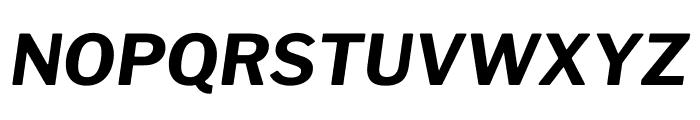 Libre Franklin Bold Italic Font UPPERCASE