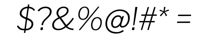 Libre Franklin ExtraLight Italic Font OTHER CHARS