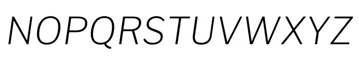Libre Franklin ExtraLight Italic Font UPPERCASE
