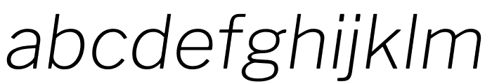 Libre Franklin ExtraLight Italic Font LOWERCASE