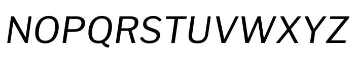 Libre Franklin Italic Font UPPERCASE