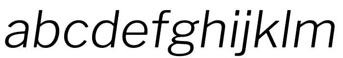 Libre Franklin Light Italic Font LOWERCASE