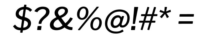 Libre Franklin Medium Italic Font OTHER CHARS
