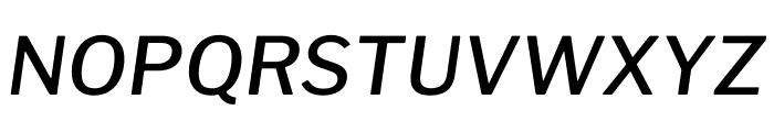 Libre Franklin Medium Italic Font UPPERCASE