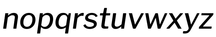 Libre Franklin Medium Italic Font LOWERCASE