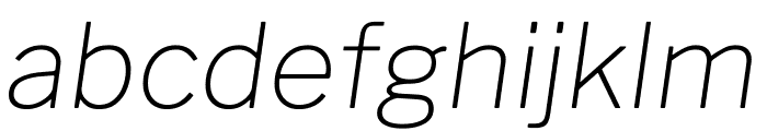 Libre Franklin Thin Italic Font LOWERCASE