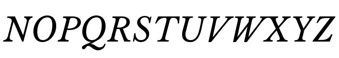 LibreBaskerville-Italic Font UPPERCASE